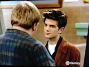 <p>Nope, that isn't a picture of Adam Scott in 2020—it's a picture of him in 1995 when he appeared in a few <em>Boy Meets World</em> episodes (great genes, Paul Rudd-level genes). Adam played Griffin Hawkins, a band member and so-called tough guy at John Adams High. </p>