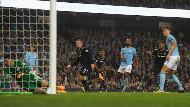 <p>Seven seasons after that impressive feat and Rooney earned his place in the record books alongside Shearer as he struck to infuriate City fans in typical fashion at the Etihad.</p> <br><p>It won't be a goal that will trump others on this list, but in achievement terms it's up there with the very best.</p> <br><p>Super combination play between Mason Holgate and Dominic Calvert-Lewin down the right flank saw the latter guide a low centre into Rooney's path, and the 31-year-old stroked home a first-time finish past Ederson to hand Everton the initiative.</p> <br><p>Ultimately City would come back to pick up a share of the spoils, but Rooney's place in history is assured nonetheless - and he will have revelled it giving it large to the Etihad faithful too!</p>