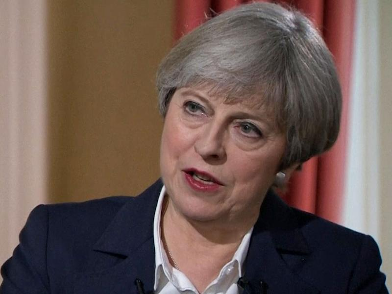 Prime Minister Theresa May during an interview with Andrew Neil on BBC1: PA