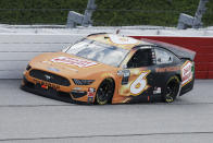 Ryan Newman (6) drives during the NASCAR Cup Series auto race Sunday, May 17, 2020, in Darlington, S.C. (AP Photo/Brynn Anderson)