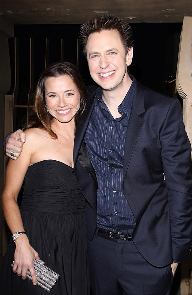 """<a href=""""http://movies.yahoo.com/movie/contributor/1800021170"""">Linda Cardellini</a> and <a href=""""http://movies.yahoo.com/movie/contributor/1800013738"""">James Gunn</a> at the Los Angeles premiere of <a href=""""http://movies.yahoo.com/movie/1810167552/info"""">Super</a> on March 21, 2011."""