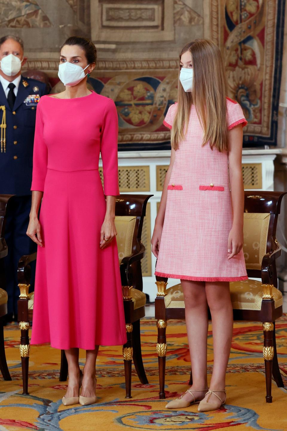 MADRID, SPAIN - JUNE 18: Queen Letizia of Spain and Princess Sofia attend the