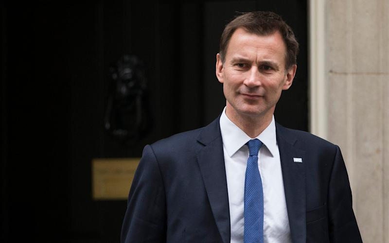 Jeremy Hunt leaves Downing Street - Credit:  Getty Images