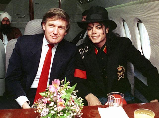 <p>Trump and Michael Jackson in April 1990.<i> (Photo: Donna Connor/FilmMagic)</i> </p>