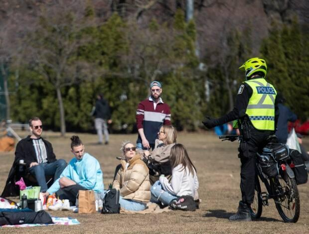 The highest number of tickets were issued in Montreal as people could be fined for things ranging from failing to wear a mask in certain areas to being out after curfew. (Graham Hughes/The Canadian Press - image credit)