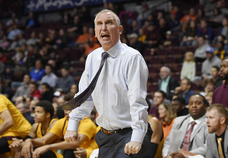 Bobby Hurleys Sun Devils played a maddening brand of basketball on Wednesday. (AP Photo/Jessica Hill/File)