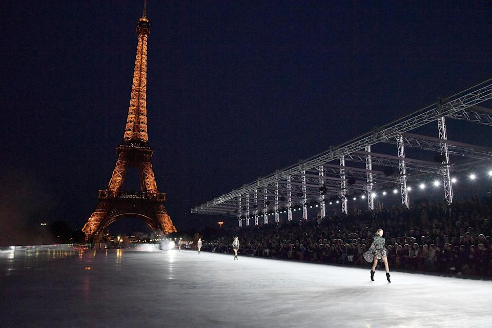 The Eiffel Tower served as the show's backdrop [Photo: Getty]