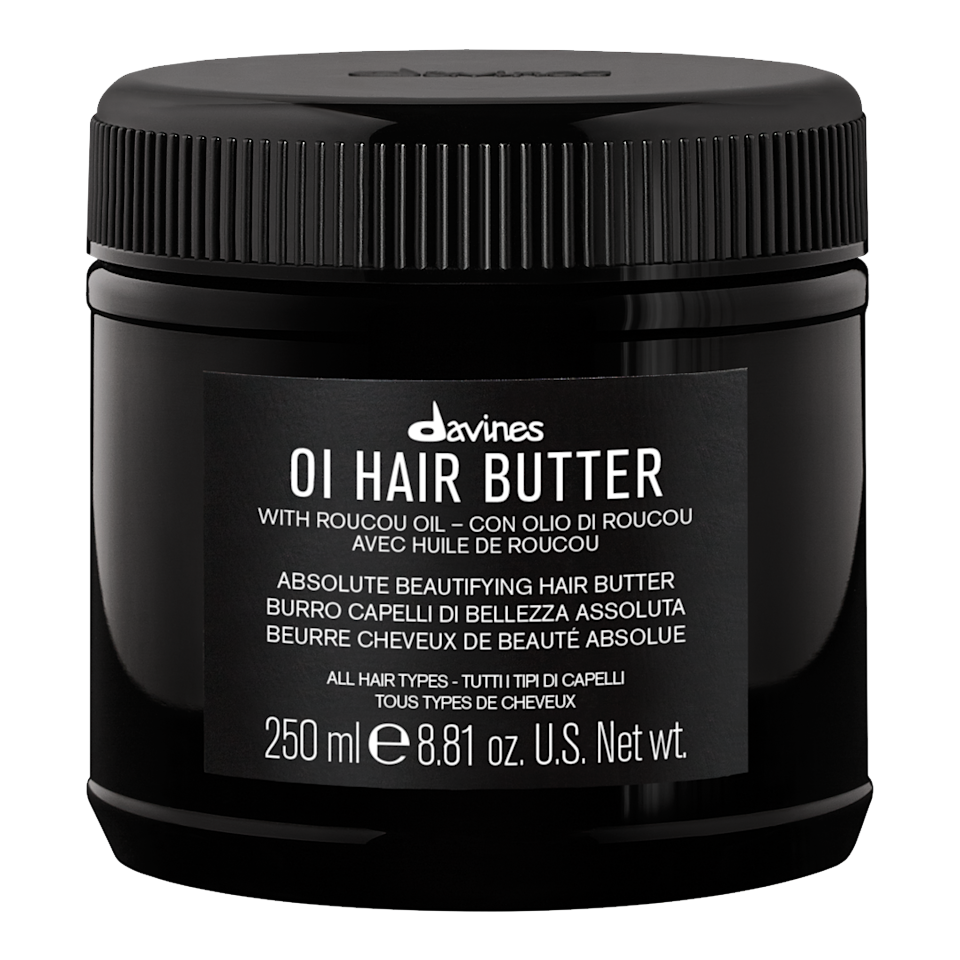 """<p>Davines is expanding its beloved Oi line and adding the Oi Hair Butter, which promises to give you that soft, silky, hydrated hair you absolutely deserve. Made with the antioxidant-rich roucou oil, this confection can be used as a pre-poo for fine hair or as a conditioning treatment for other hair types. If your hair is in extra need of moisture, use it both before and after shampooing.</p> <p>$44 (<a href=""""https://shop-links.co/1680048549233239523"""" rel=""""nofollow"""">Shop Now</a>)</p>"""