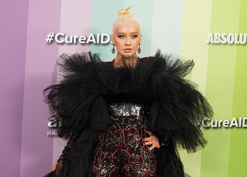 LOS ANGELES, CALIFORNIA - OCTOBER 10: Christina Aguilera attends the 2019 amfAR Gala Los Angeles at Milk Studios on October 10, 2019 in Los Angeles, California. (Photo by Rachel Luna/FilmMagic)