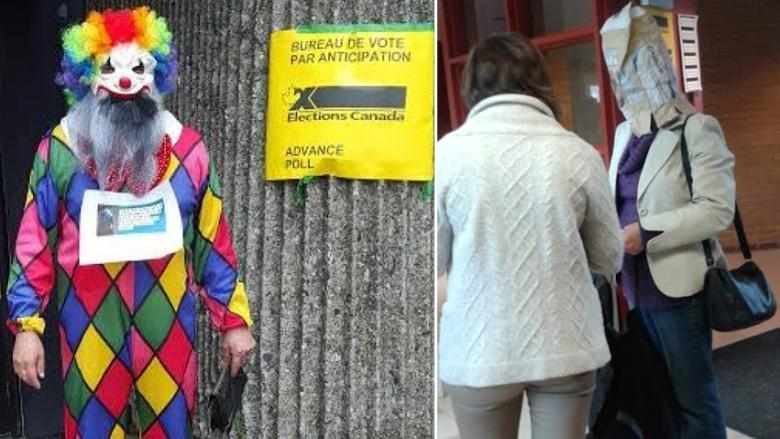 Mummers, potato sacks and clown masks: Why people are voting in silly face coverings
