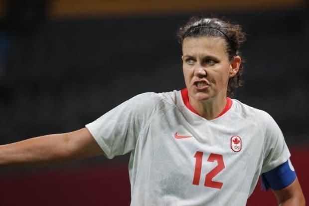 Nine years after authoring an epic near-upset, Christine Sinclair will try to lead the Canadian women's soccer team to its first win over the U.S. in two decades. (Asano Ikko/AFP via Getty Images - image credit)