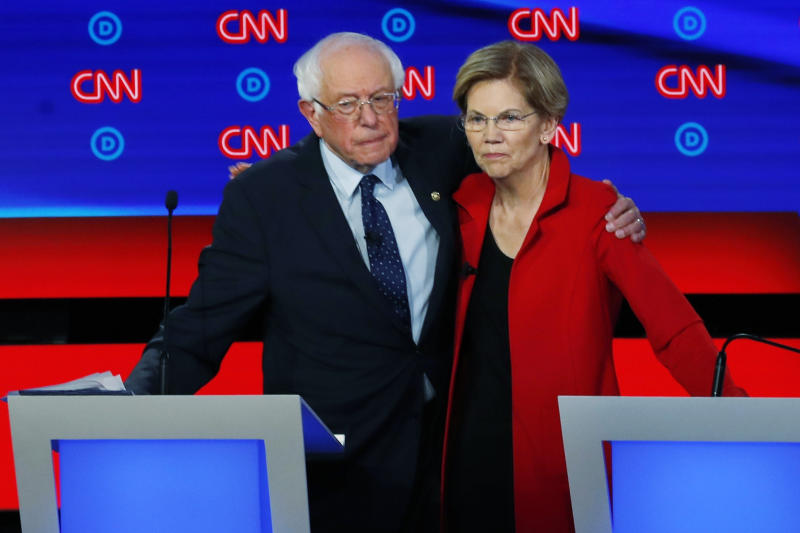 Sens. Bernie Sanders and Elizabeth Warren are united on one issue in particular: taxing the wealthy. (Photo: AP Photo/Paul Sancya)
