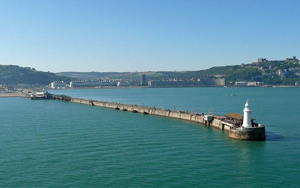Dover's Admiralty Pier, a harbour arm at the busy port, is the only sea-ward structure remaining where anglers can cast their lines - Wessex News Agency