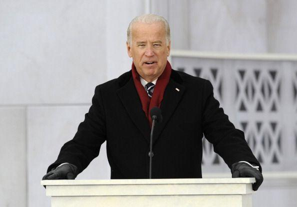 <p>On January 18, 2009, Barack Obama was inaugurated as the 44th president. Biden speaks here at the inauguration celebration. </p>