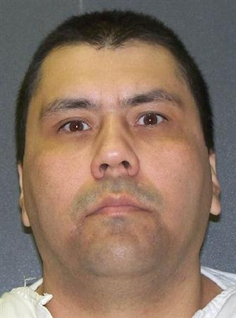Death row inmate Jose Luis Villegas Jr is seen in an undated photo released by the Texas Department of Criminal Justice in Huntsville