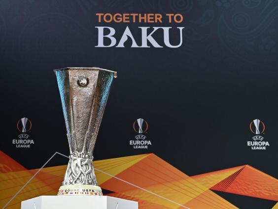 The Europa League final takes place in Baku between Arsenal and Chelsea (AFP/Getty)