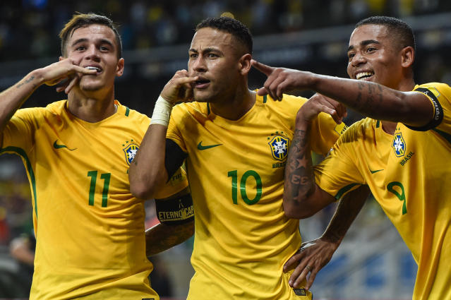 The Brazil forward is tipping star turns for Egypt, Belgium and Uruguay to star alongside a few of his international team-mates in Russia this summer