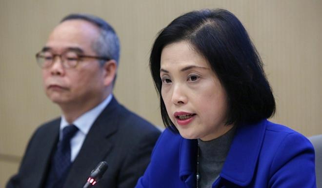 Betty Fung Ching Suk-yee (right) is believed to be the front-runner for the authority's interim CEO. Photo: Edmond So