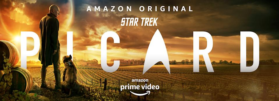 The banner poster for Star Trek: Picard is even more striking. (Amazon Prime)