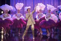 """This image released by Roadside Attractions shows Renée-Zellweger as Judy Garland in a scene from """"Judy."""" The film was nominated for a GLAAD Media Award for outstanding wide release film on Wednesday, Jan. 8, 2020. (David Hindley/Roadside Attractions via AP)"""