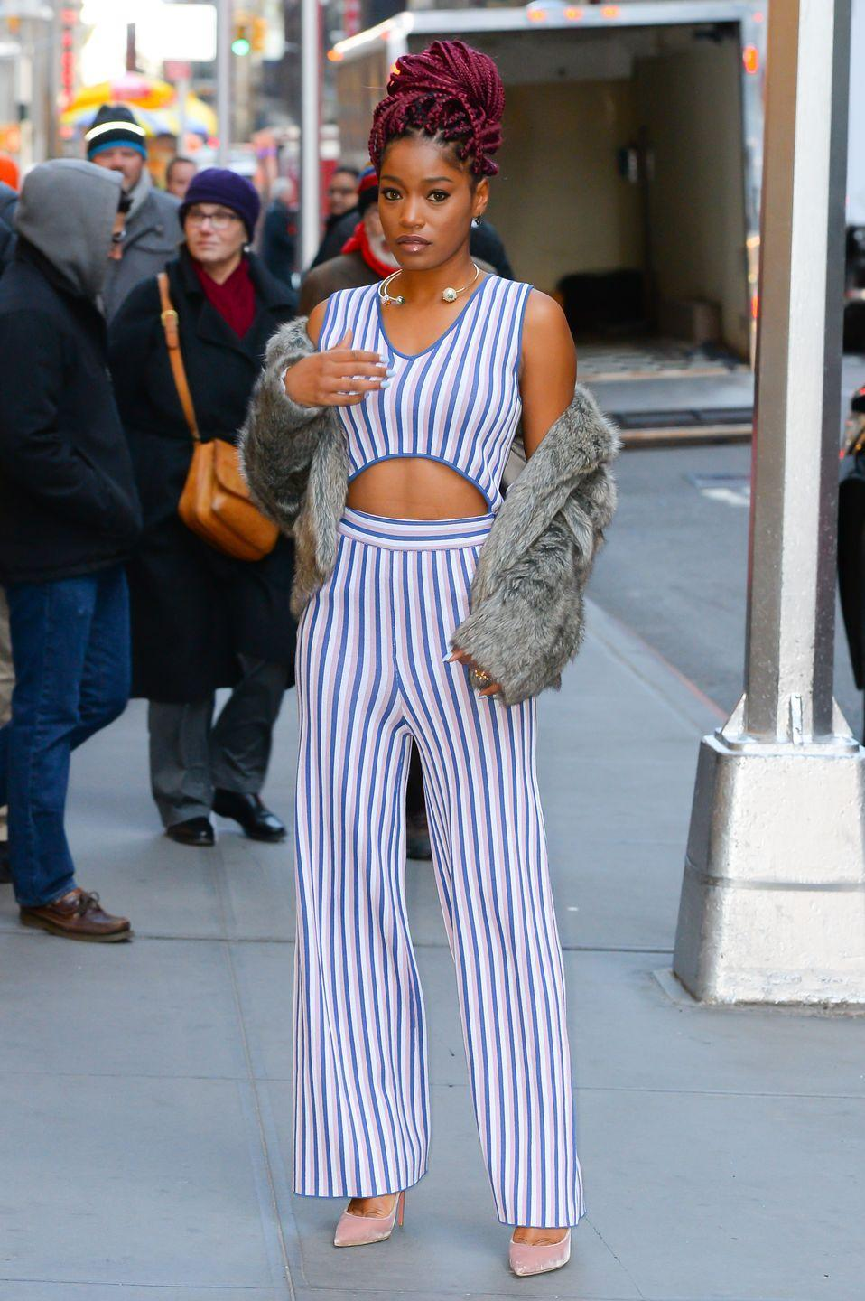 <p>Plenty of celebrities are rocking bright gemstone colors, like Keke Palmer's magenta, as well as shades like turquoise, and even yellow, says de Marco. As far as styles go, this fall, you'll likely notice tons of thicker braids in these gemstone colors, he says.  </p>
