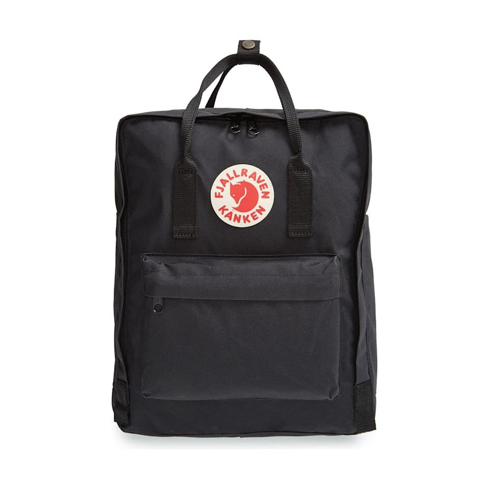 "A stylish and functional Christmas gift for the minimalist in your life, whether he's embarking on a voyage in the great outdoors or finally heading back to campus. $80, Nordstrom. <a href=""https://www.nordstrom.com/s/fjallraven-kanken-water-resistant-backpack/5728294"" rel=""nofollow noopener"" target=""_blank"" data-ylk=""slk:Get it now!"" class=""link rapid-noclick-resp"">Get it now!</a>"