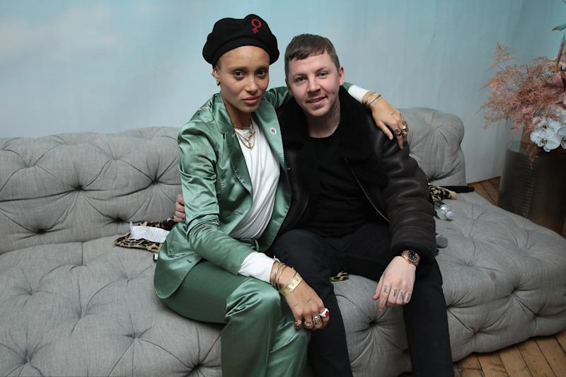 Unlikely friendship: Gurls Talk Co-founder and model-activist Adwoa Aboah and rapper Professor Green: Cindy Ord/Getty