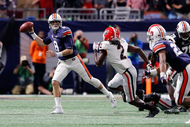 Auburn and Georgia squared off with a trip to the playoff on the line. (Getty)