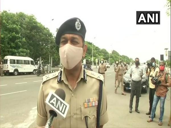 Police Commissioner MK Agarwal speaking to ANI on Saturday. Photo/ANI