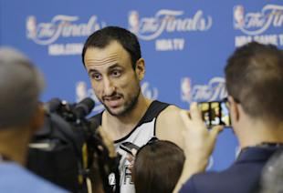 Manu Ginobili has one year remaining on his contract. (AP)