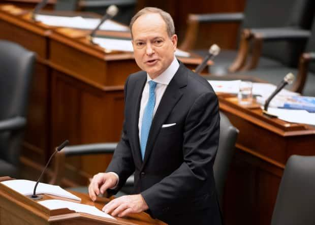 Ontario Finance Minister Peter Bethlenfalvy delivered his first provincial budget today. Bethlenfalvy stepped into the role of finance minister after MPP Rod Phillips resigned in January following a holiday to the Caribbean despite COVID-19 travel warnings. (Frank Gunn/The Canadian Press - image credit)