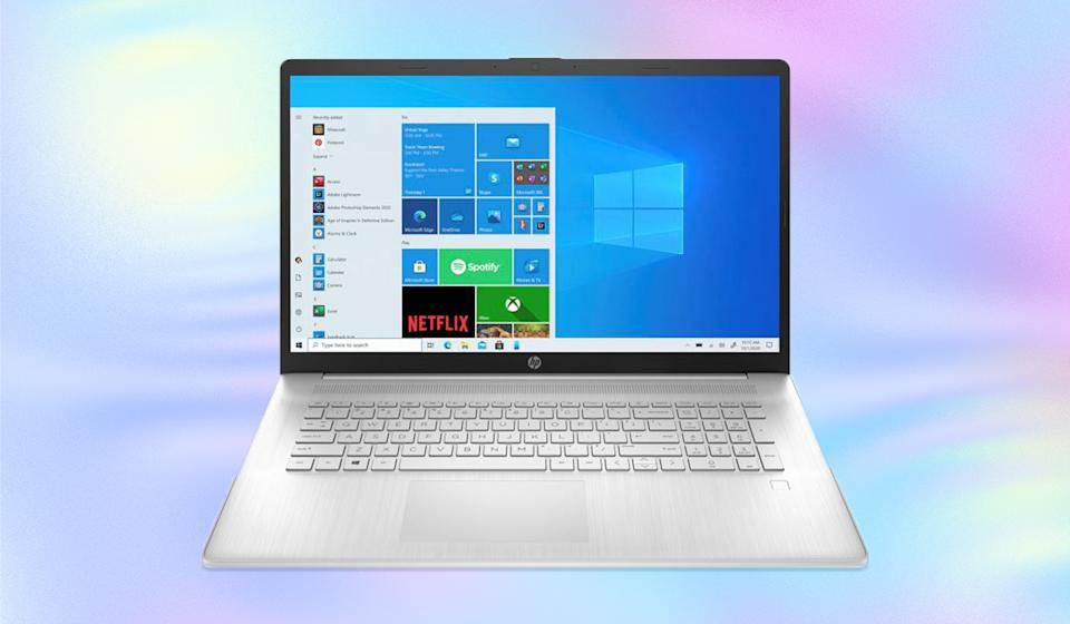 The HP 17 Touch Laptop strikes the perfect balance between wide-screen expansiveness and easy portability. (Photo: HSN)