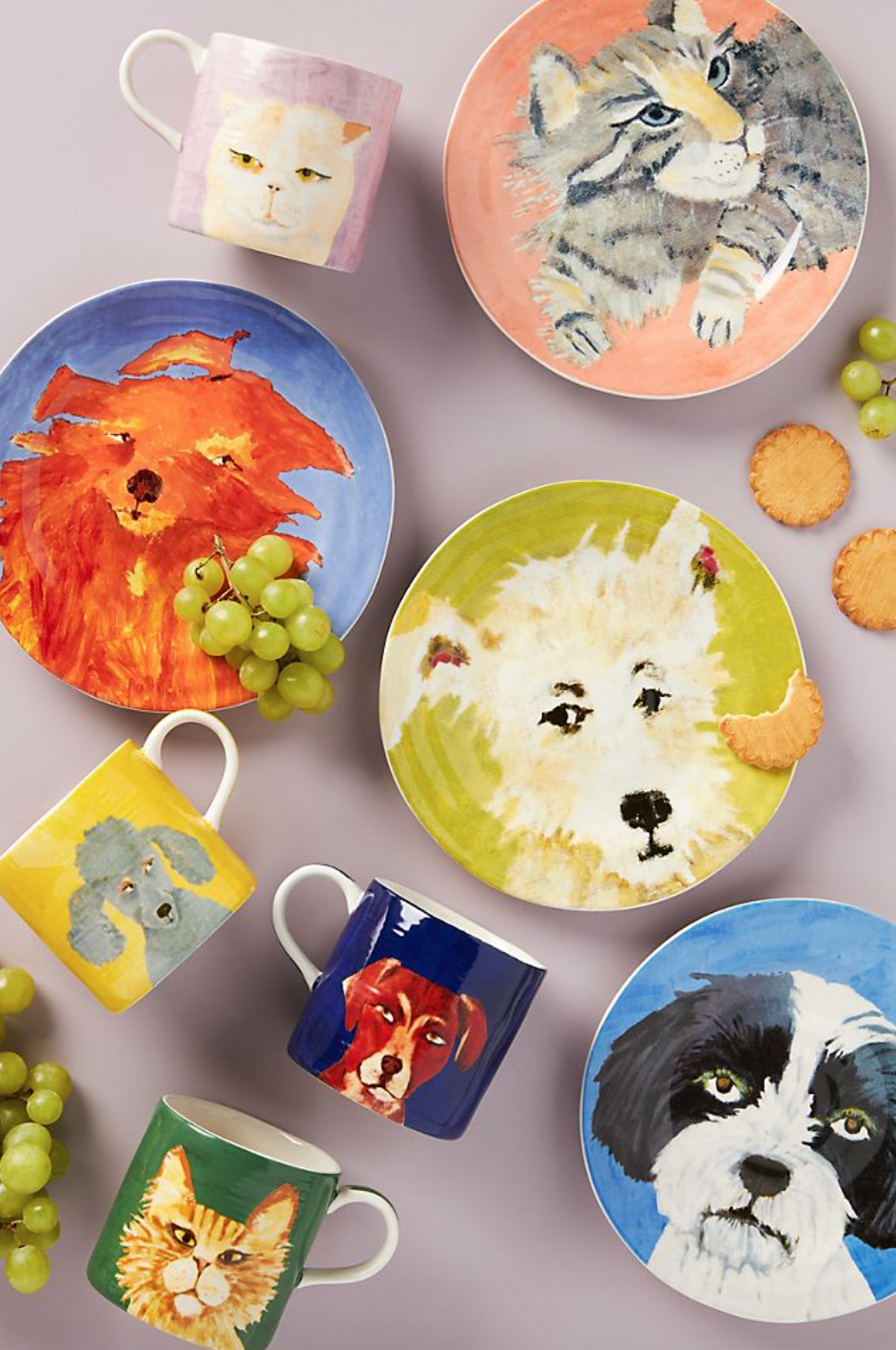 Carole Akins Furry Friends Dessert Plate (Photo via Anthropologie)
