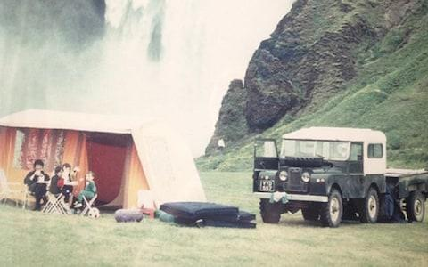 Greg Dickinson and family on a road trip to Iceland in 1993 - Credit: Matt Dickinson