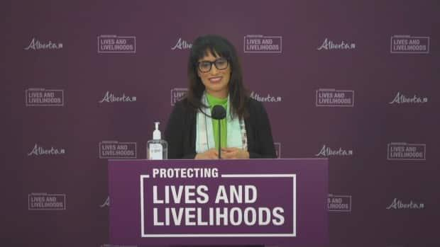 Culture, Multiculturalism and Status of Women Minister Leela Aheer says non-profit organizations need easier ways to get regulatory exemptions when responding to emergencies. (CBC - image credit)