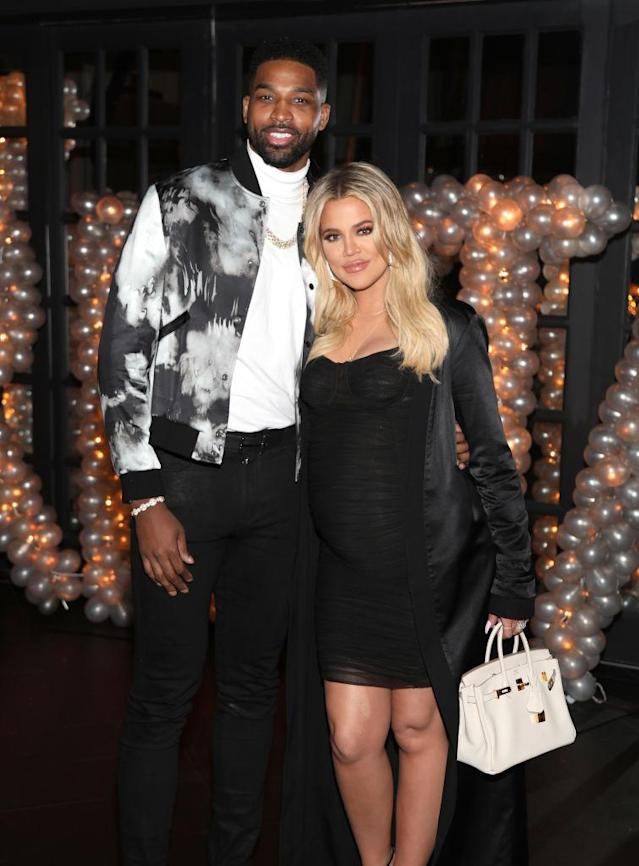 Tristan Thompson and Khloé Kardashian before the cheating reports. (Photo: Jerritt Clark/Getty Images for Remy Martin)