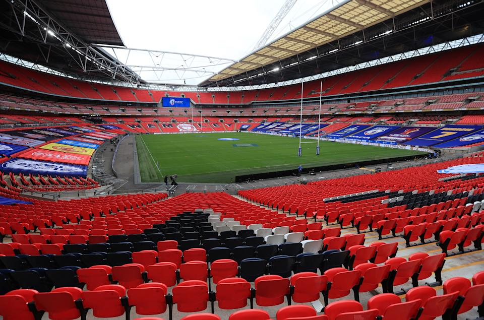 Visão do Estádio de Wembley. Foto: Mike Egerton/PA Images via Getty Images