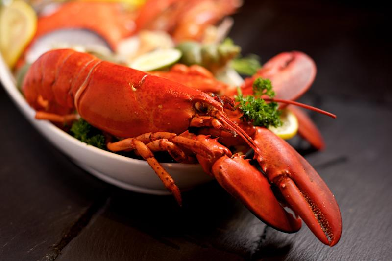 Seafood feast: 2pec allegedly demolished two lobsters along with a host of other seafood: Shutterstock