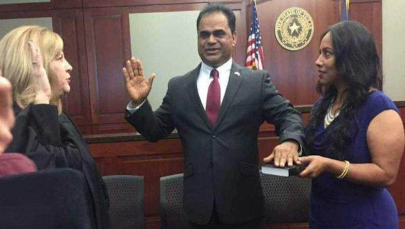 Indian-American K P George Takes Oath as Fort Bend County Judge in Texas