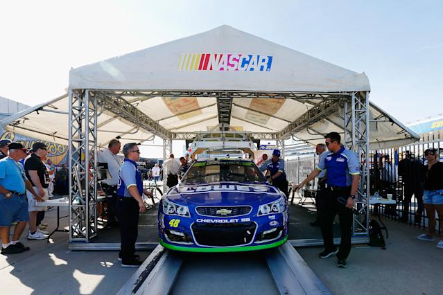 NASCAR will institute a new inspection system in 2018 that's designed to be more precise than the previous system. (Getty)