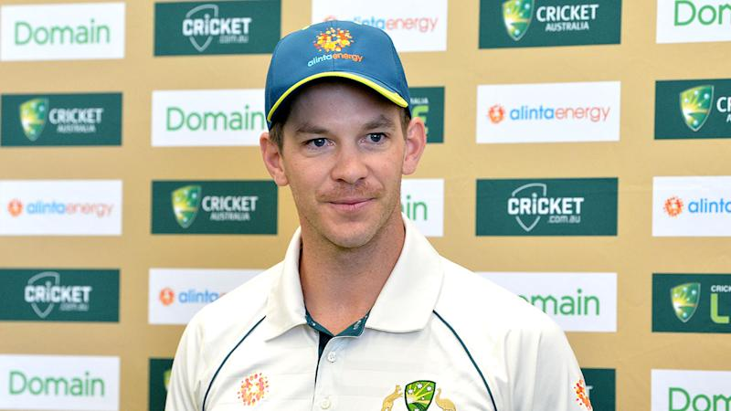 Pictured here, Aussie captain Tim Paine is disappointed with James Pattinson over his Test ban.