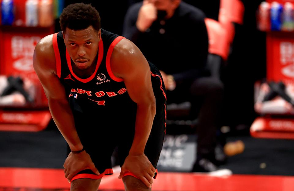 Kyle Lowry has played his last nine NBA seasons with the Toronto Raptors. (Mike Ehrmann/Getty Images)
