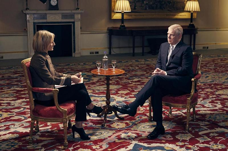 Prince Andrew was interviewed by Emily Maitlis for BBC Newsnight (BBC/ Mark Harrington)