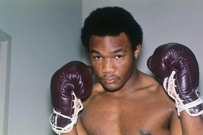 """<p>George Foreman made a name for himself as a heavyweight boxing champion and an Olympic gold medalist. In 1998, he retired from the sport <a href=""""https://www.liveabout.com/george-foreman-career-record-424252"""" rel=""""nofollow noopener"""" target=""""_blank"""" data-ylk=""""slk:with 76 wins"""" class=""""link rapid-noclick-resp"""">with 76 wins</a> under his belt.</p>"""