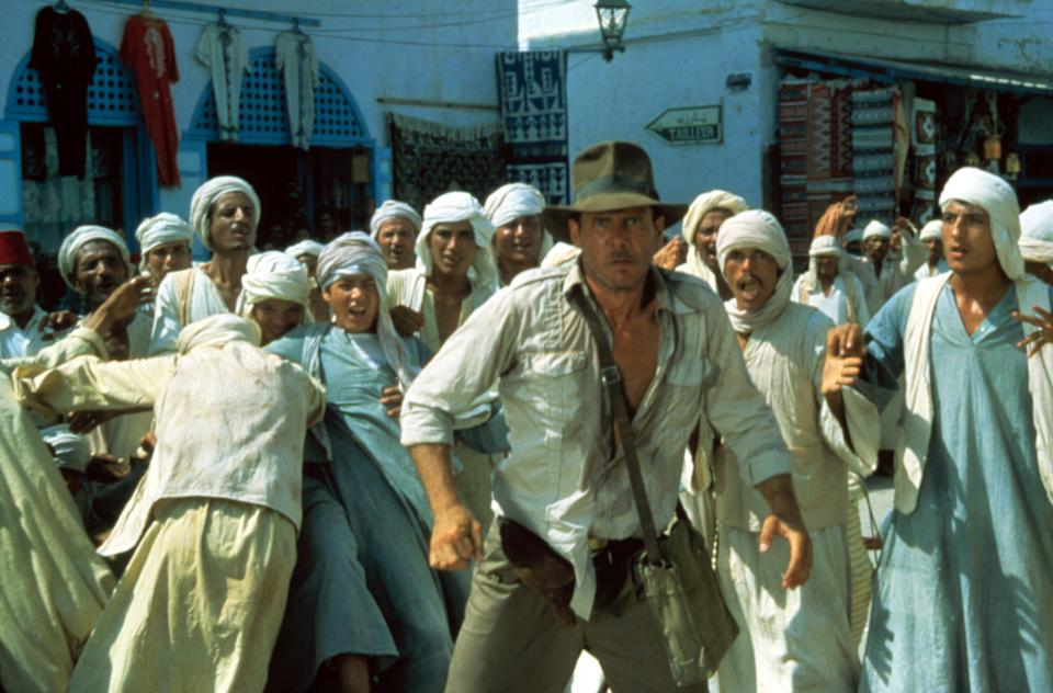 Ford gets ready for action in a scene from 'Raiders of the Lost Ark' (Photo: Paramount/Courtesy Everett Collection)