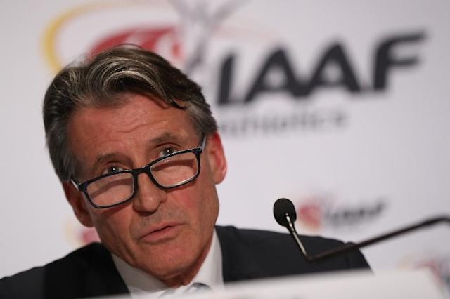 IAAF chief Sebastian Coe (pictured) claims he never opened an attachment from former 10,000 metres world record holder David Bedford and sent it on instead to the IAAF Ethics Commission (AFP Photo/Valery HACHE)
