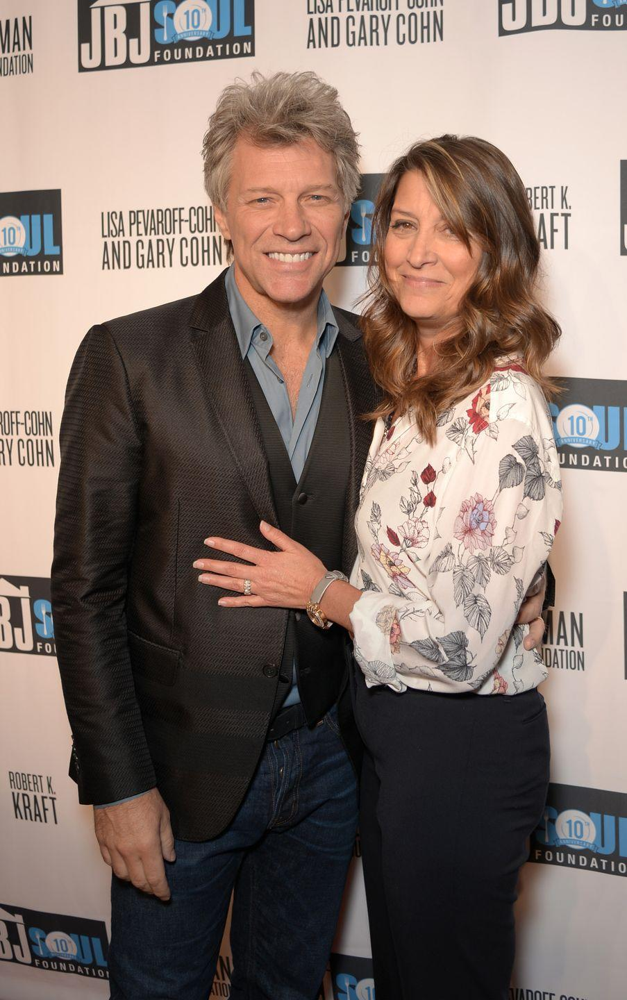 <p>Bon Jovi married Dorothea Hurley, his high school sweetheart, in 1989. The pair is still happily married with four children.</p>
