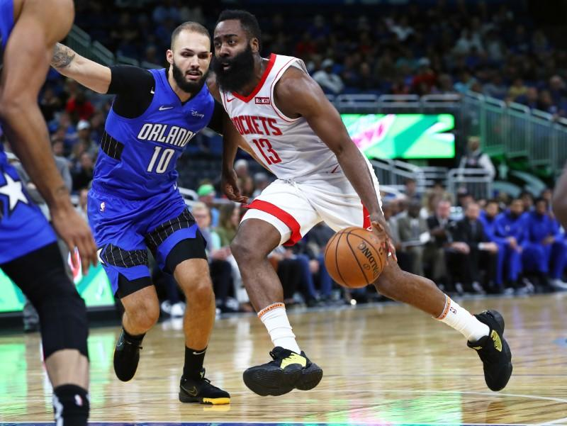 NBA roundup: Harden's 54 carries Rockets