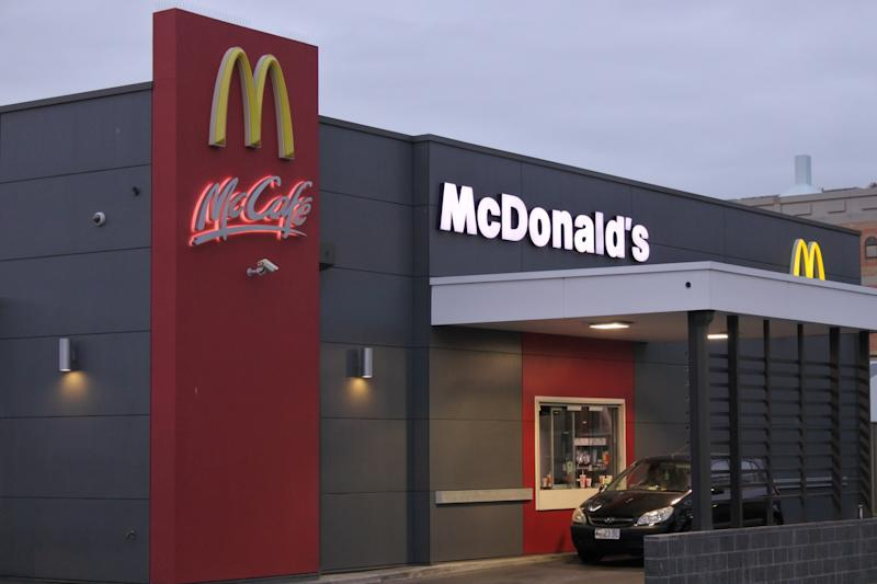 Hobart, Tasmania - March 20, 2019: McDonald's Fast food Restaurant. McDonald's is the world's largest restaurant chain by revenue, serving over 69 million customers daily in over 100 countries across as of 2018.