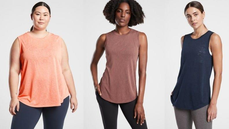 This airy tank provides ample coverage and plenty of comfort.